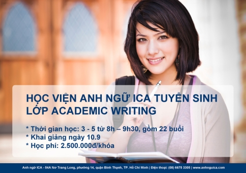 Anh ngữ ICA tuyển sinh lớp Academic Writing