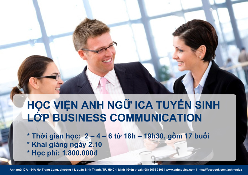 Anh ngữ ICA tuyển sinh Business Communication