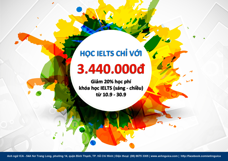 Anh ngữ ICA - Học IELTS với chỉ 3.440.000đ