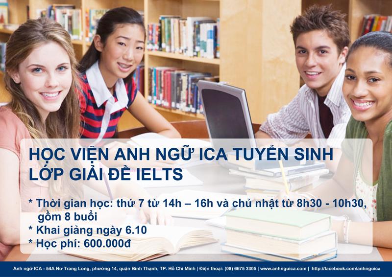 Anh Ngữ ICA tuyển sinh Giải đề IELTS