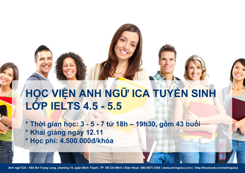 Anh ngữ ICA tuyển IE 4.5 - 5.5