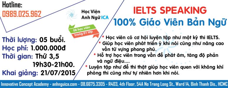IELTS Speaking Bình Thạnh